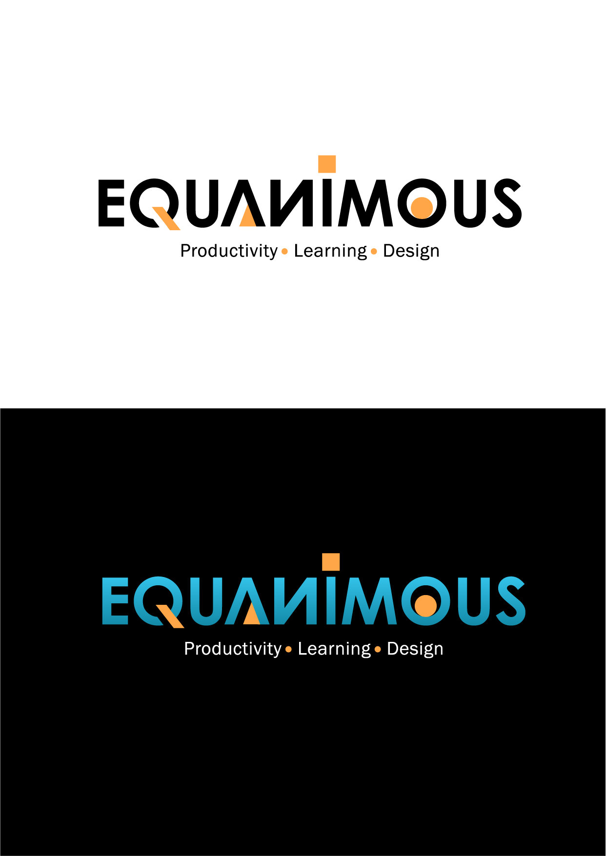 Logo Design by Wilfredo Mendoza - Entry No. 363 in the Logo Design Contest Logo Design : EQUANIMOUS : Productivity | Learning | Design.