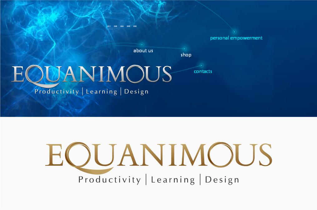 Logo Design by Muhammad Nasrul chasib - Entry No. 364 in the Logo Design Contest Logo Design : EQUANIMOUS : Productivity | Learning | Design.