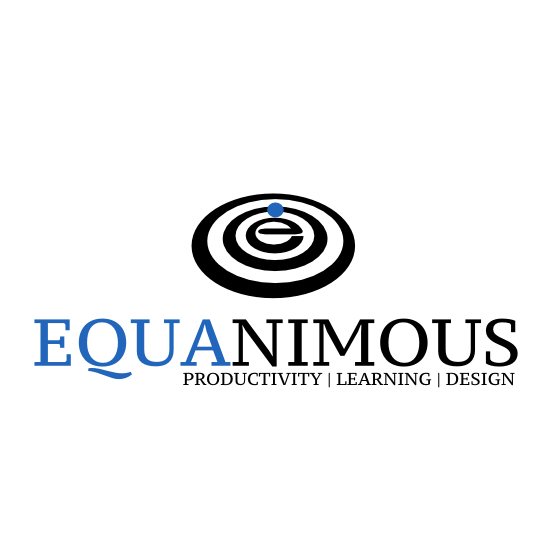 Logo Design by Widy Jantiko - Entry No. 369 in the Logo Design Contest Logo Design : EQUANIMOUS : Productivity | Learning | Design.