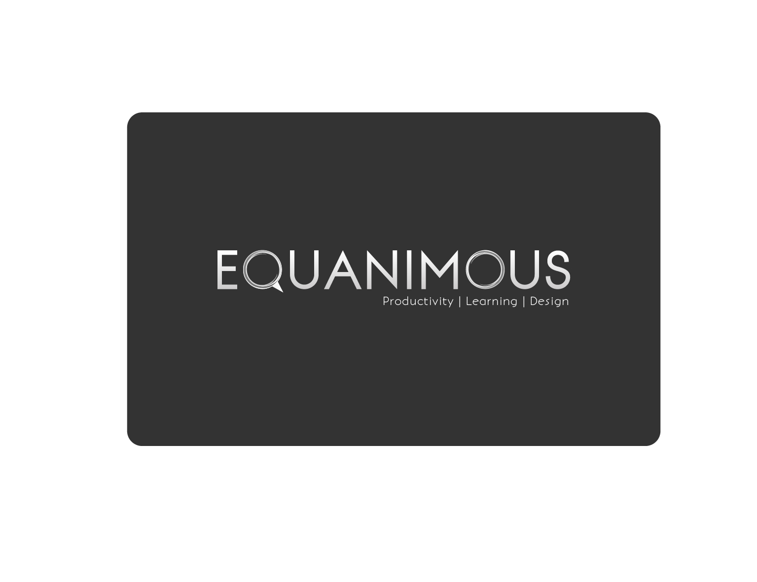 Logo Design by 3draw - Entry No. 374 in the Logo Design Contest Logo Design : EQUANIMOUS : Productivity | Learning | Design.