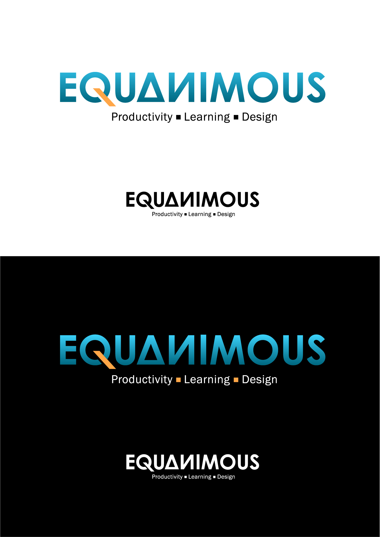Logo Design by Wilfredo Mendoza - Entry No. 376 in the Logo Design Contest Logo Design : EQUANIMOUS : Productivity | Learning | Design.