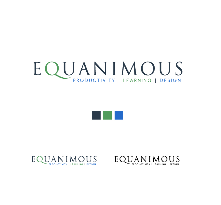 Logo Design by elmd - Entry No. 377 in the Logo Design Contest Logo Design : EQUANIMOUS : Productivity | Learning | Design.