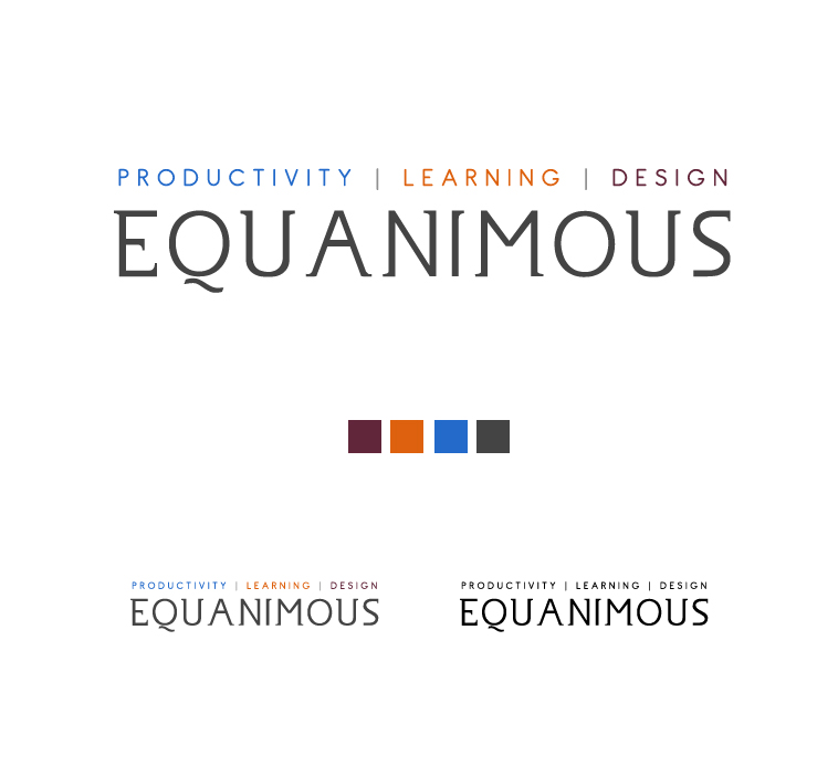Logo Design by elmd - Entry No. 378 in the Logo Design Contest Logo Design : EQUANIMOUS : Productivity | Learning | Design.