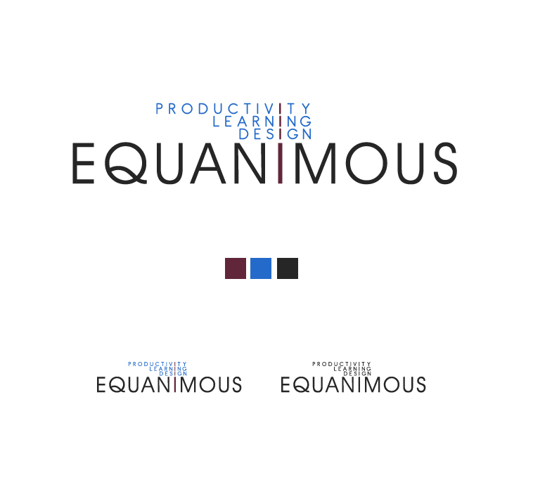 Logo Design by elmd - Entry No. 381 in the Logo Design Contest Logo Design : EQUANIMOUS : Productivity | Learning | Design.