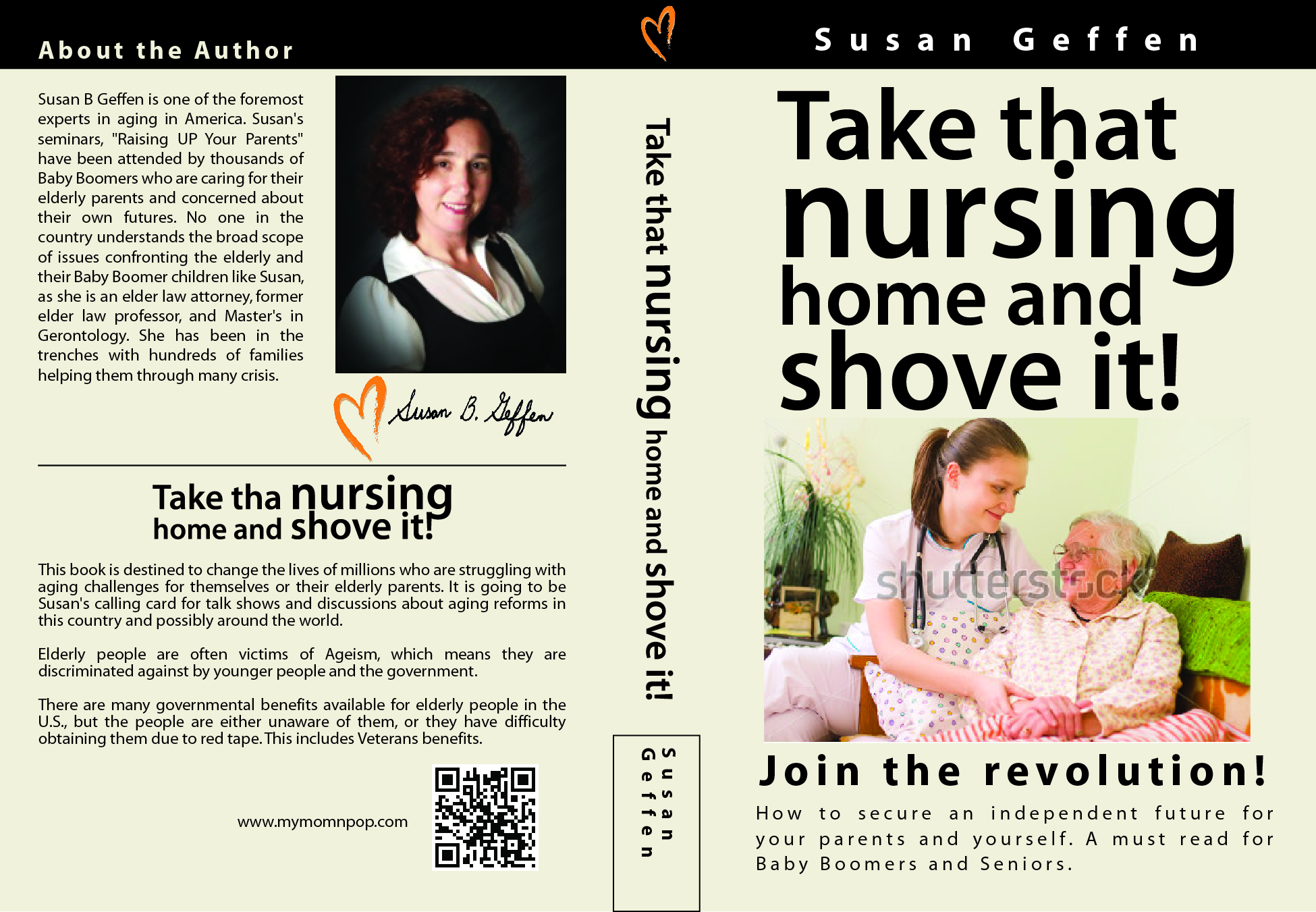 Book Cover Design by Crizam Santos - Entry No. 15 in the Book Cover Design Contest Take that nursing home and shove it! Book Cover Design.
