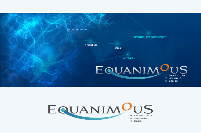 Logo Design by graphicleaf - Entry No. 382 in the Logo Design Contest Logo Design : EQUANIMOUS : Productivity | Learning | Design.