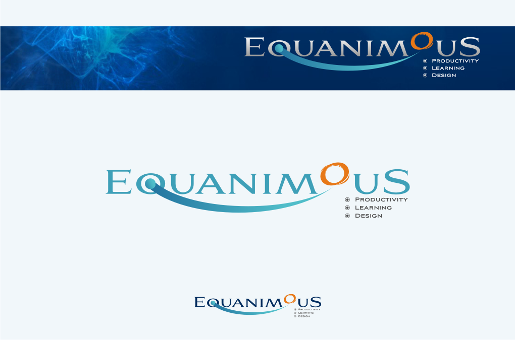Logo Design by graphicleaf - Entry No. 383 in the Logo Design Contest Logo Design : EQUANIMOUS : Productivity | Learning | Design.