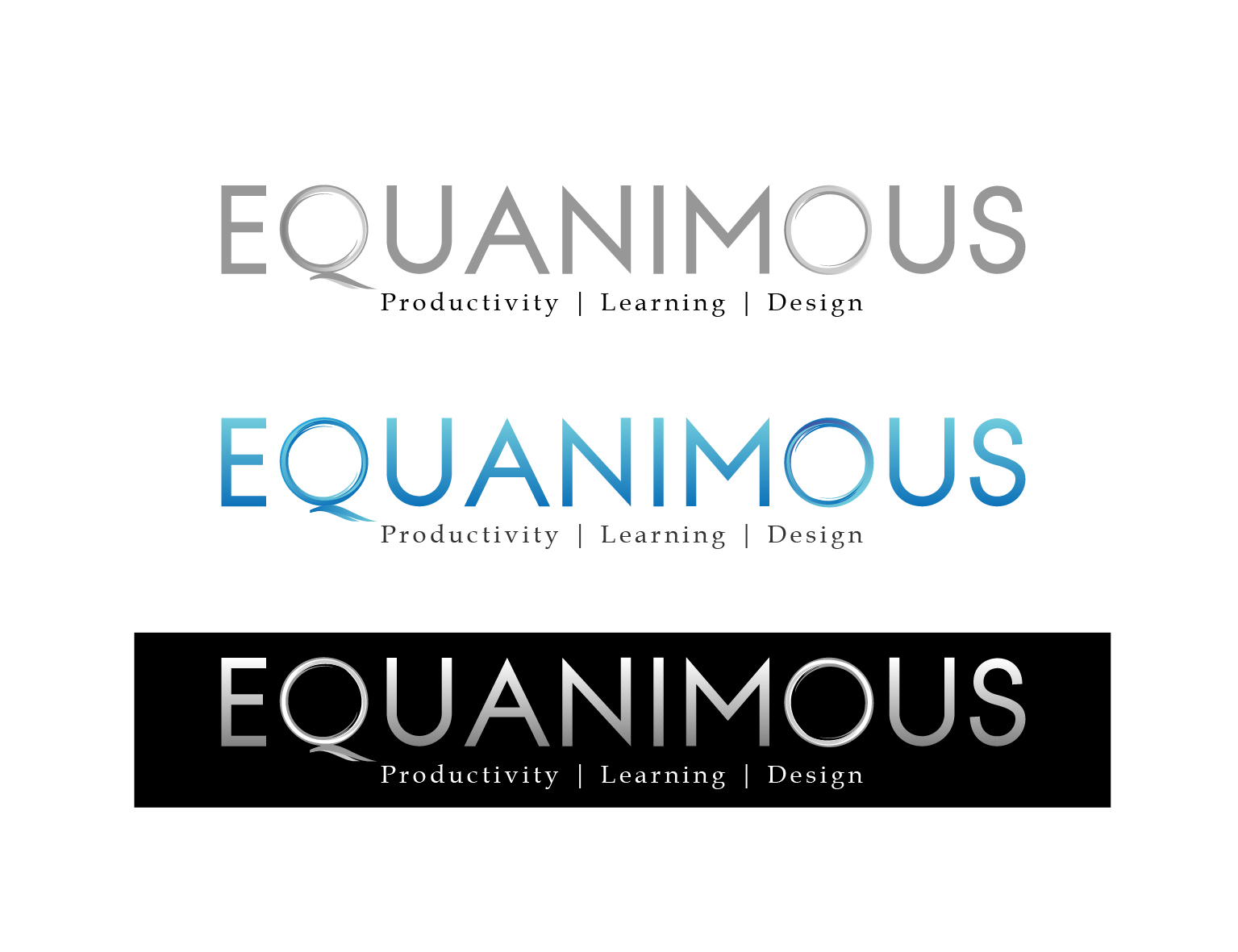 Logo Design by 3draw - Entry No. 386 in the Logo Design Contest Logo Design : EQUANIMOUS : Productivity | Learning | Design.