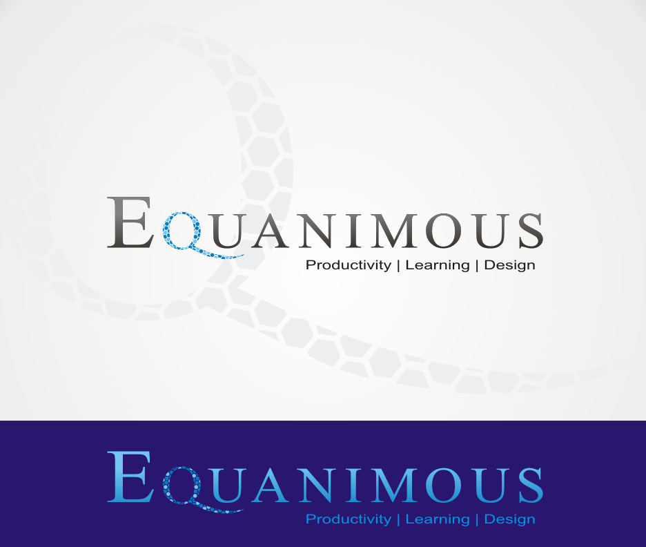 Logo Design by Joe Teach - Entry No. 387 in the Logo Design Contest Logo Design : EQUANIMOUS : Productivity | Learning | Design.