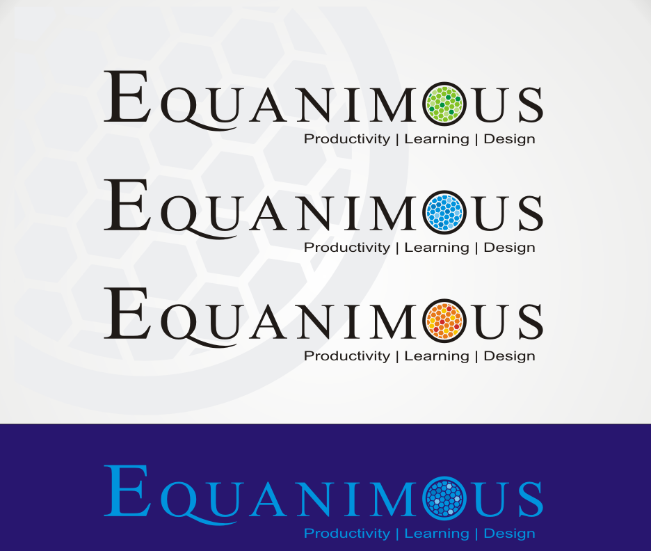 Logo Design by Joe Teach - Entry No. 388 in the Logo Design Contest Logo Design : EQUANIMOUS : Productivity | Learning | Design.