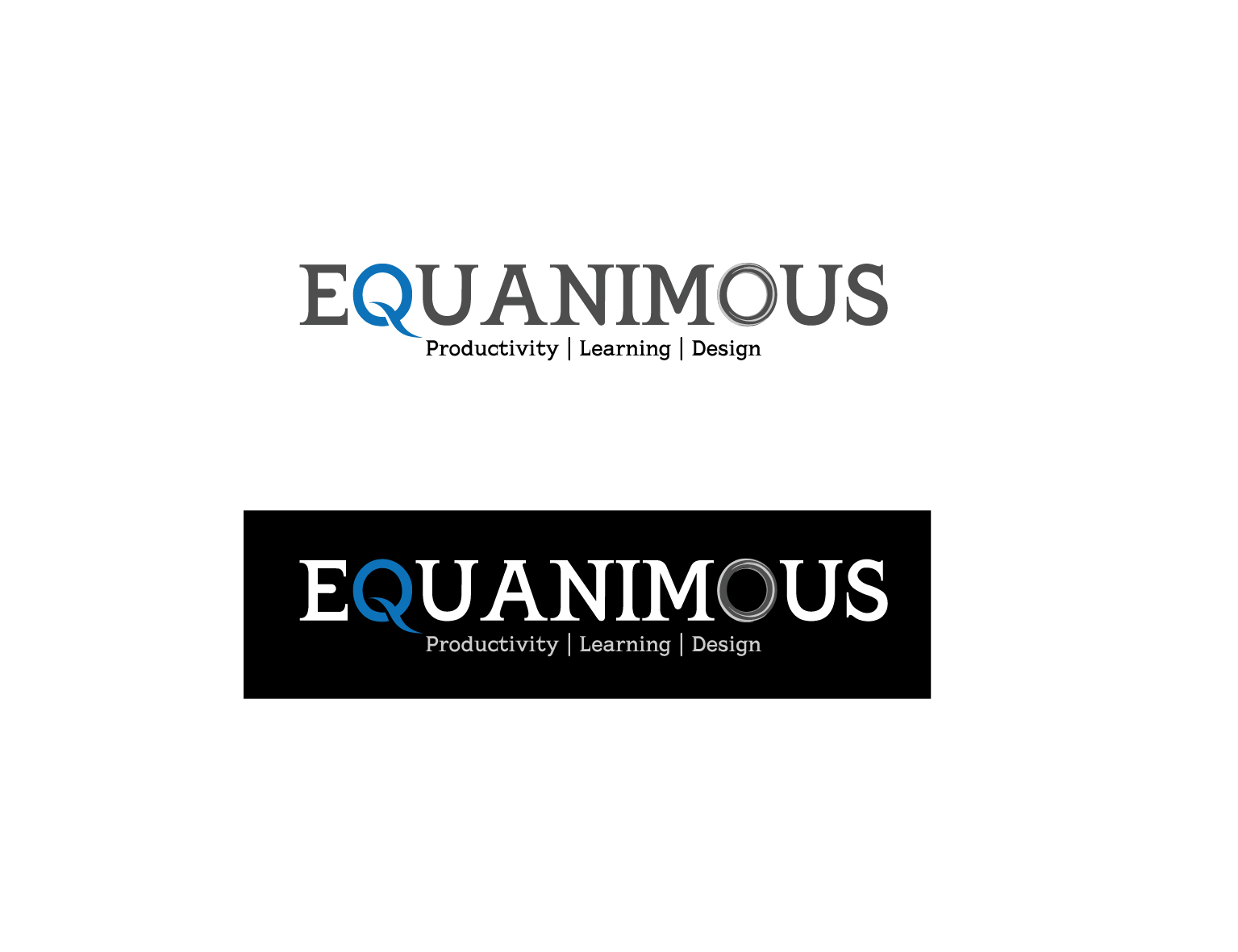 Logo Design by 3draw - Entry No. 389 in the Logo Design Contest Logo Design : EQUANIMOUS : Productivity | Learning | Design.