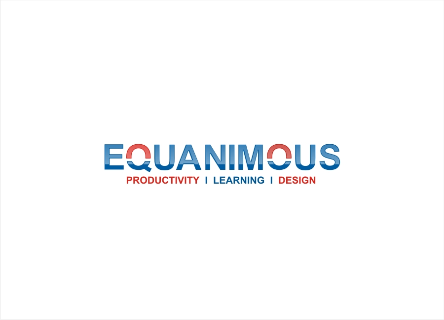 Logo Design by Private User - Entry No. 391 in the Logo Design Contest Logo Design : EQUANIMOUS : Productivity | Learning | Design.