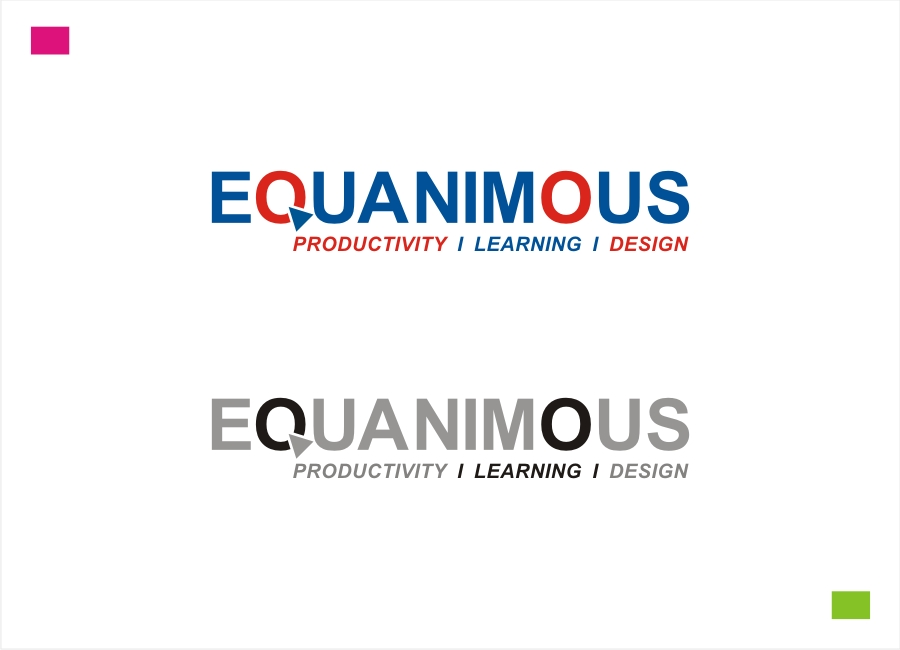 Logo Design by Private User - Entry No. 392 in the Logo Design Contest Logo Design : EQUANIMOUS : Productivity | Learning | Design.