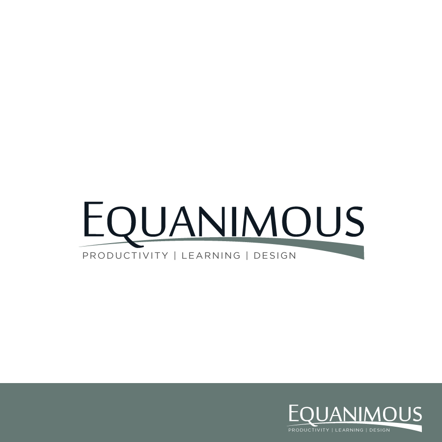 Logo Design by Edward Goodwin - Entry No. 393 in the Logo Design Contest Logo Design : EQUANIMOUS : Productivity | Learning | Design.