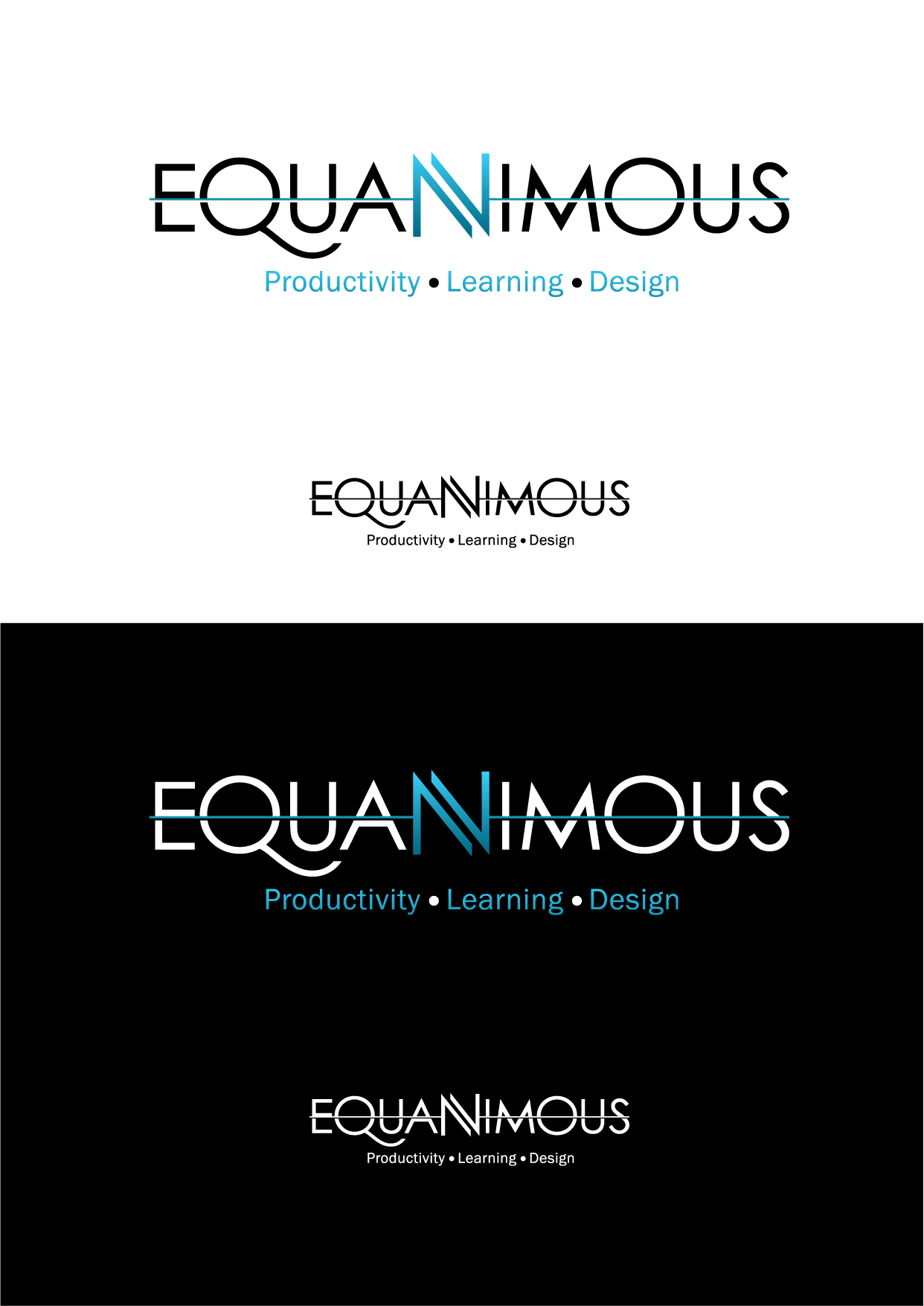 Logo Design by Wilfredo Mendoza - Entry No. 395 in the Logo Design Contest Logo Design : EQUANIMOUS : Productivity | Learning | Design.
