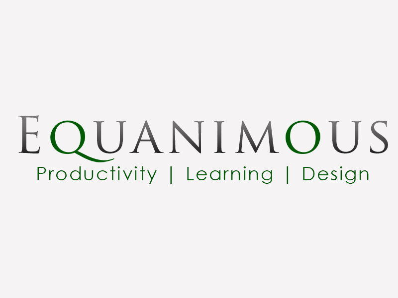 Logo Design by Mythos Designs - Entry No. 400 in the Logo Design Contest Logo Design : EQUANIMOUS : Productivity | Learning | Design.