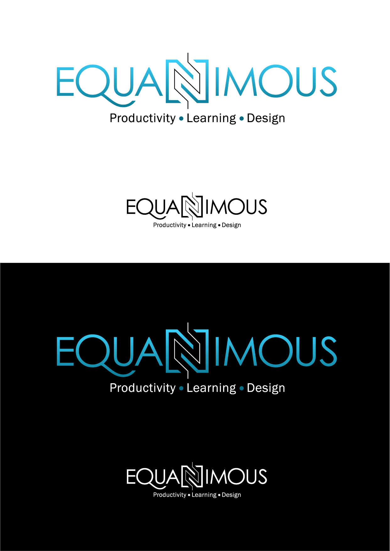 Logo Design by Wilfredo Mendoza - Entry No. 402 in the Logo Design Contest Logo Design : EQUANIMOUS : Productivity | Learning | Design.
