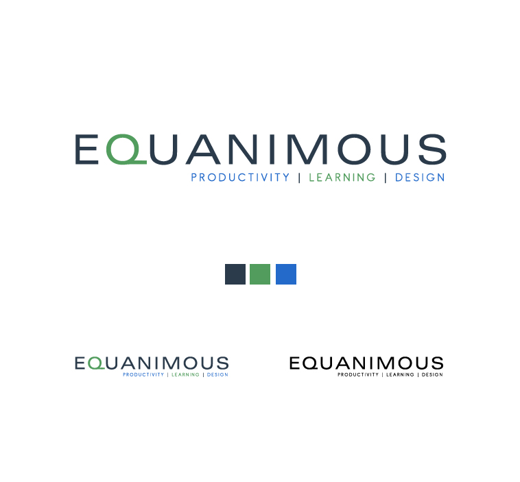 Logo Design by elmd - Entry No. 406 in the Logo Design Contest Logo Design : EQUANIMOUS : Productivity | Learning | Design.