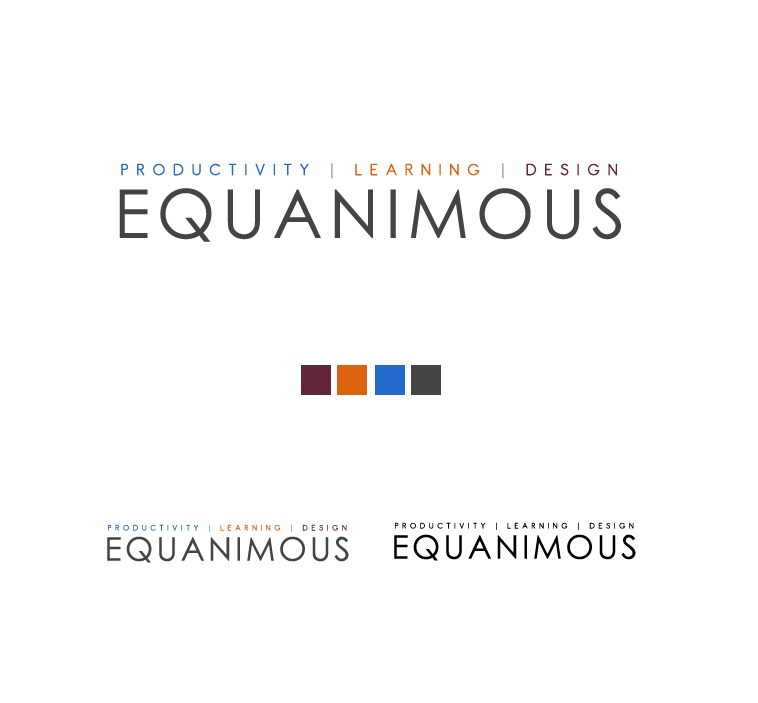 Logo Design by elmd - Entry No. 407 in the Logo Design Contest Logo Design : EQUANIMOUS : Productivity | Learning | Design.