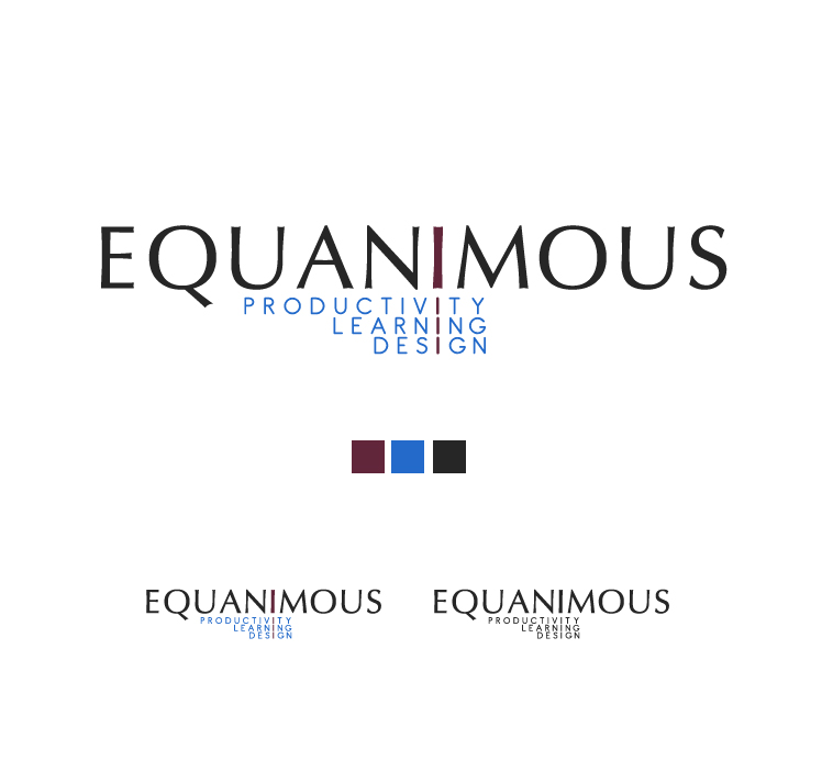 Logo Design by elmd - Entry No. 408 in the Logo Design Contest Logo Design : EQUANIMOUS : Productivity | Learning | Design.