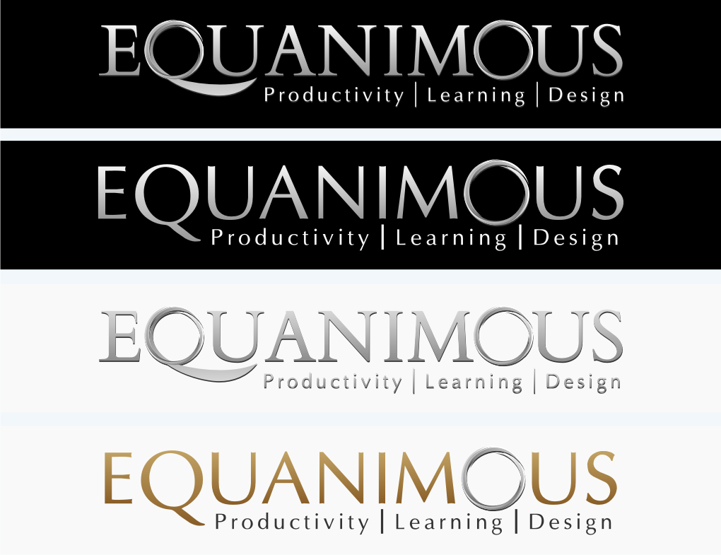 Logo Design by graphicleaf - Entry No. 409 in the Logo Design Contest Logo Design : EQUANIMOUS : Productivity | Learning | Design.