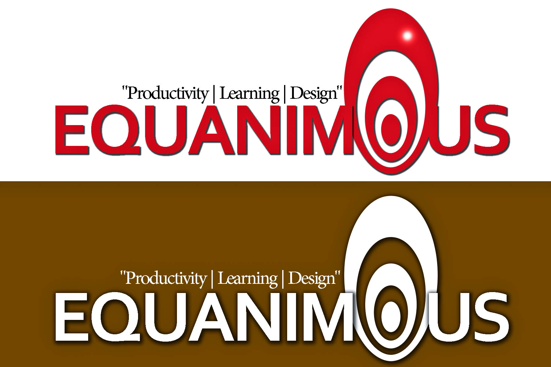 Logo Design by Eduard De Leon - Entry No. 410 in the Logo Design Contest Logo Design : EQUANIMOUS : Productivity | Learning | Design.