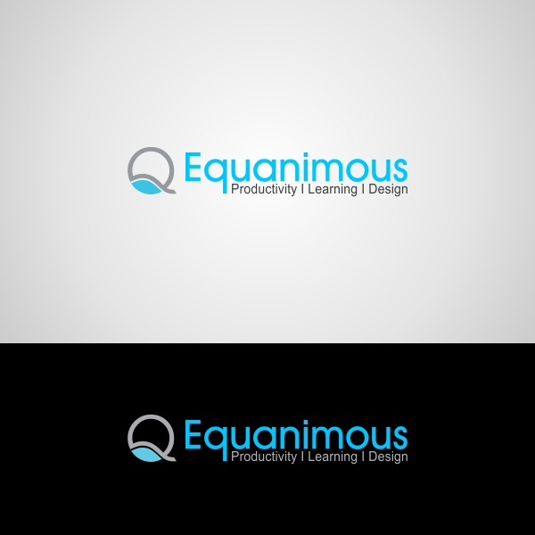 Logo Design by Muhammad Saifuddin - Entry No. 419 in the Logo Design Contest Logo Design : EQUANIMOUS : Productivity | Learning | Design.