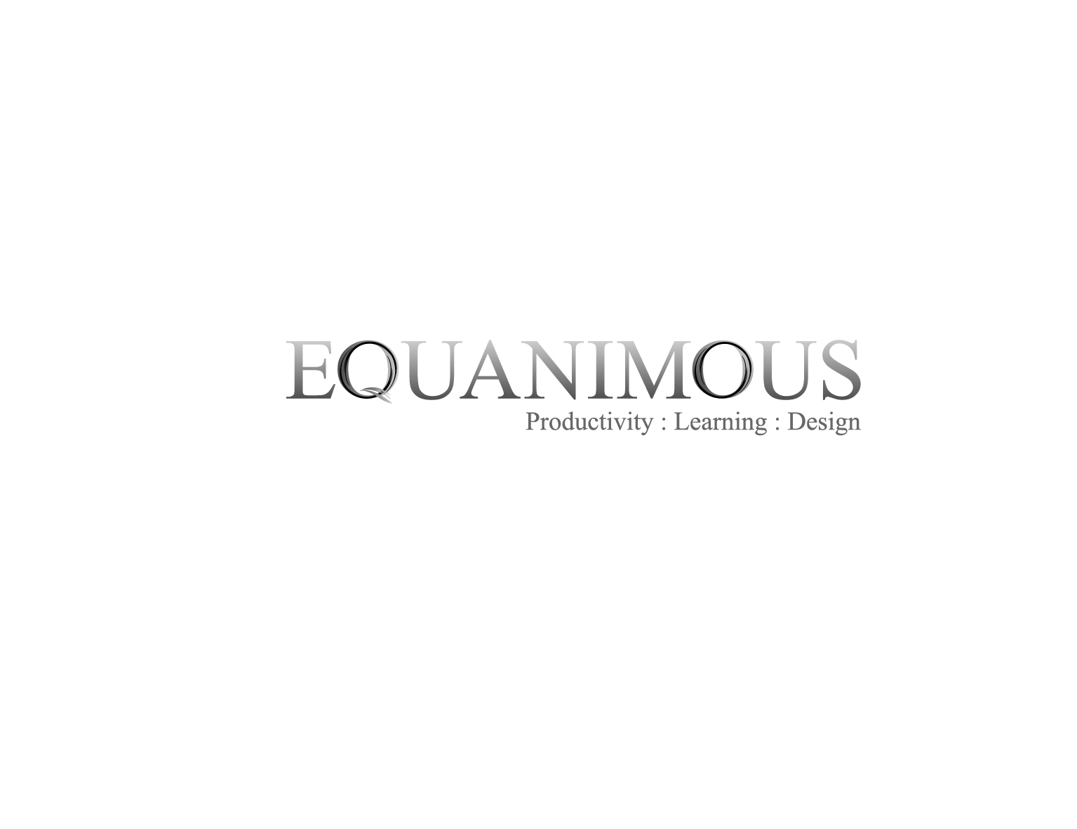Logo Design by 3draw - Entry No. 420 in the Logo Design Contest Logo Design : EQUANIMOUS : Productivity | Learning | Design.