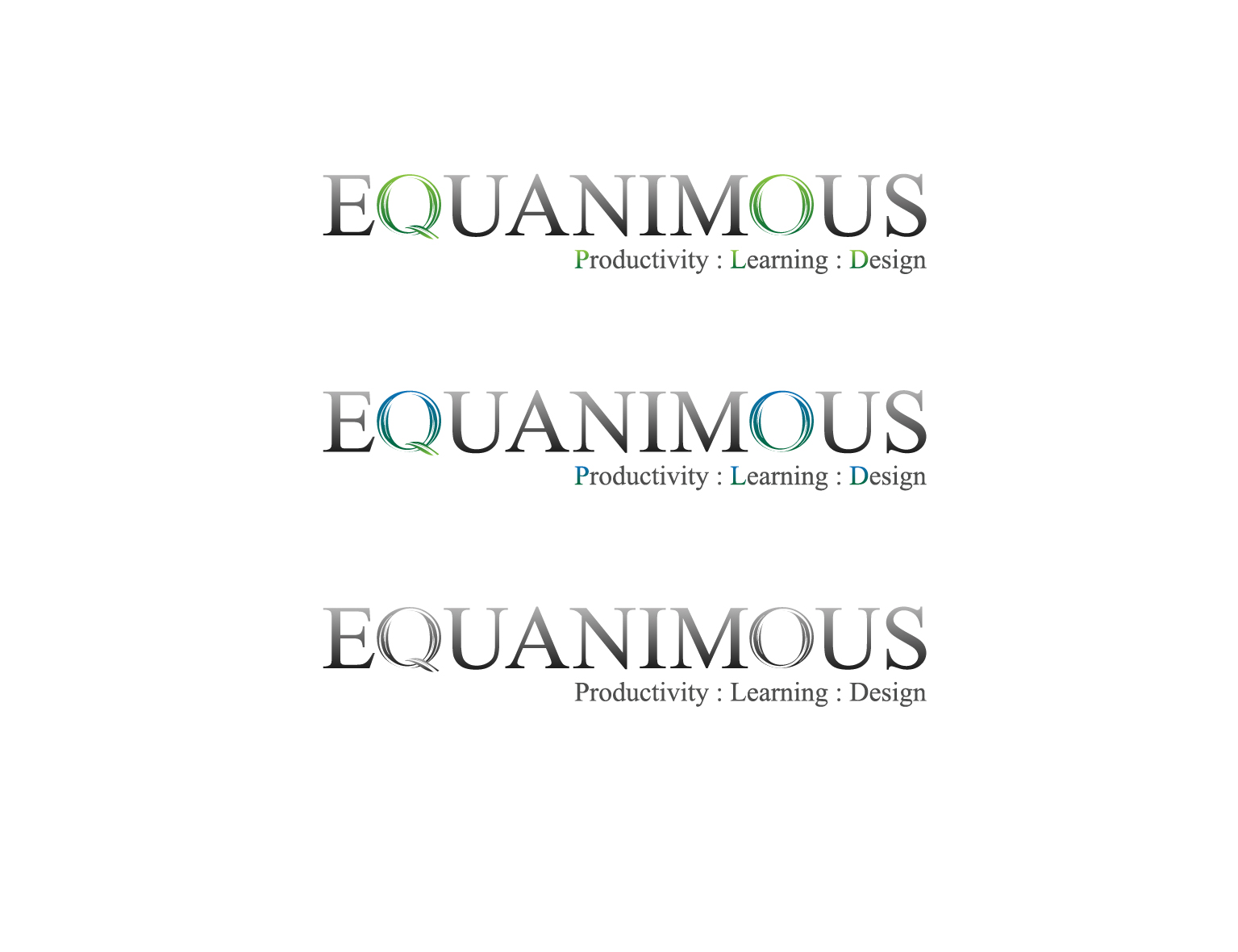 Logo Design by 3draw - Entry No. 423 in the Logo Design Contest Logo Design : EQUANIMOUS : Productivity | Learning | Design.
