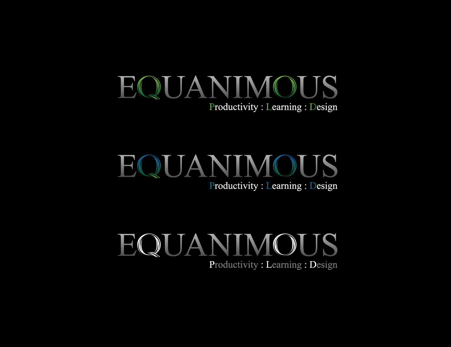 Logo Design by 3draw - Entry No. 424 in the Logo Design Contest Logo Design : EQUANIMOUS : Productivity | Learning | Design.