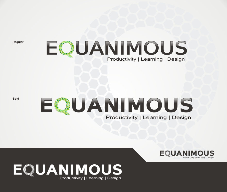 Logo Design by Joe Teach - Entry No. 432 in the Logo Design Contest Logo Design : EQUANIMOUS : Productivity | Learning | Design.