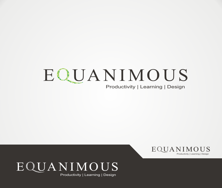 Logo Design by Joe Teach - Entry No. 446 in the Logo Design Contest Logo Design : EQUANIMOUS : Productivity | Learning | Design.