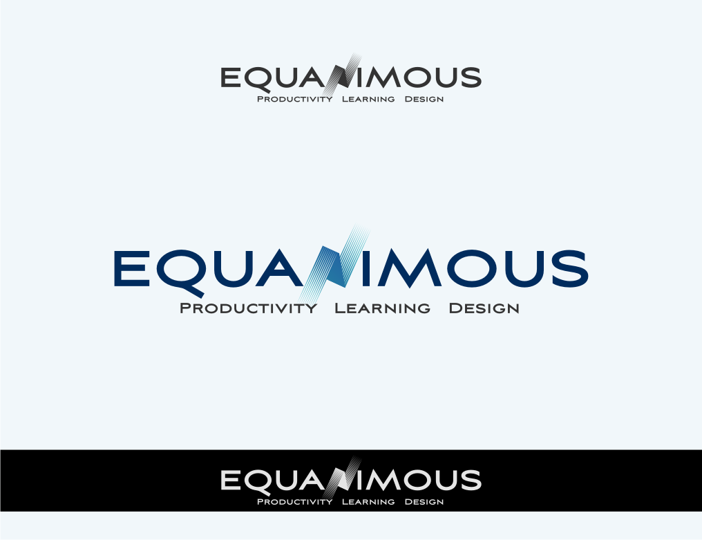 Logo Design by graphicleaf - Entry No. 450 in the Logo Design Contest Logo Design : EQUANIMOUS : Productivity | Learning | Design.