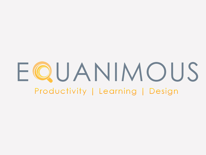 Logo Design by Mythos Designs - Entry No. 454 in the Logo Design Contest Logo Design : EQUANIMOUS : Productivity | Learning | Design.