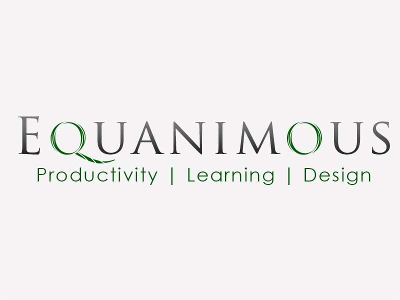 Logo Design by Mythos Designs - Entry No. 456 in the Logo Design Contest Logo Design : EQUANIMOUS : Productivity | Learning | Design.