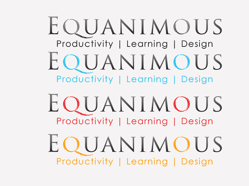 Logo Design by Mythos Designs - Entry No. 457 in the Logo Design Contest Logo Design : EQUANIMOUS : Productivity | Learning | Design.