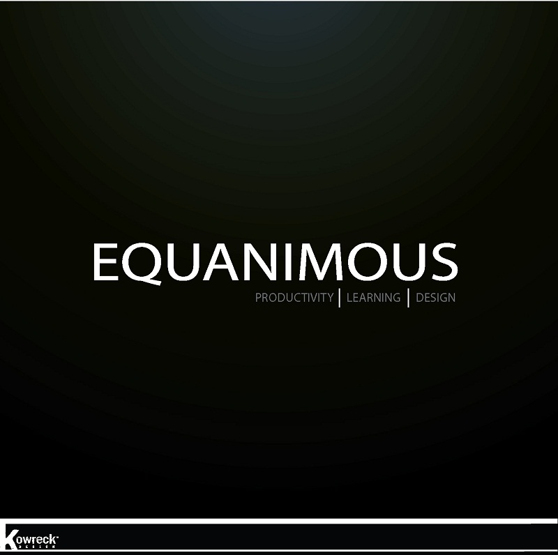 Logo Design by kowreck - Entry No. 462 in the Logo Design Contest Logo Design : EQUANIMOUS : Productivity | Learning | Design.
