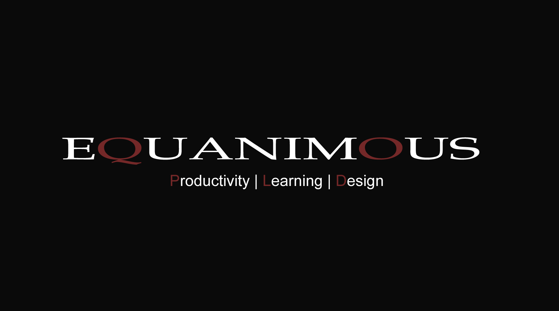 Logo Design by DOUMA AMINE - Entry No. 475 in the Logo Design Contest Logo Design : EQUANIMOUS : Productivity | Learning | Design.