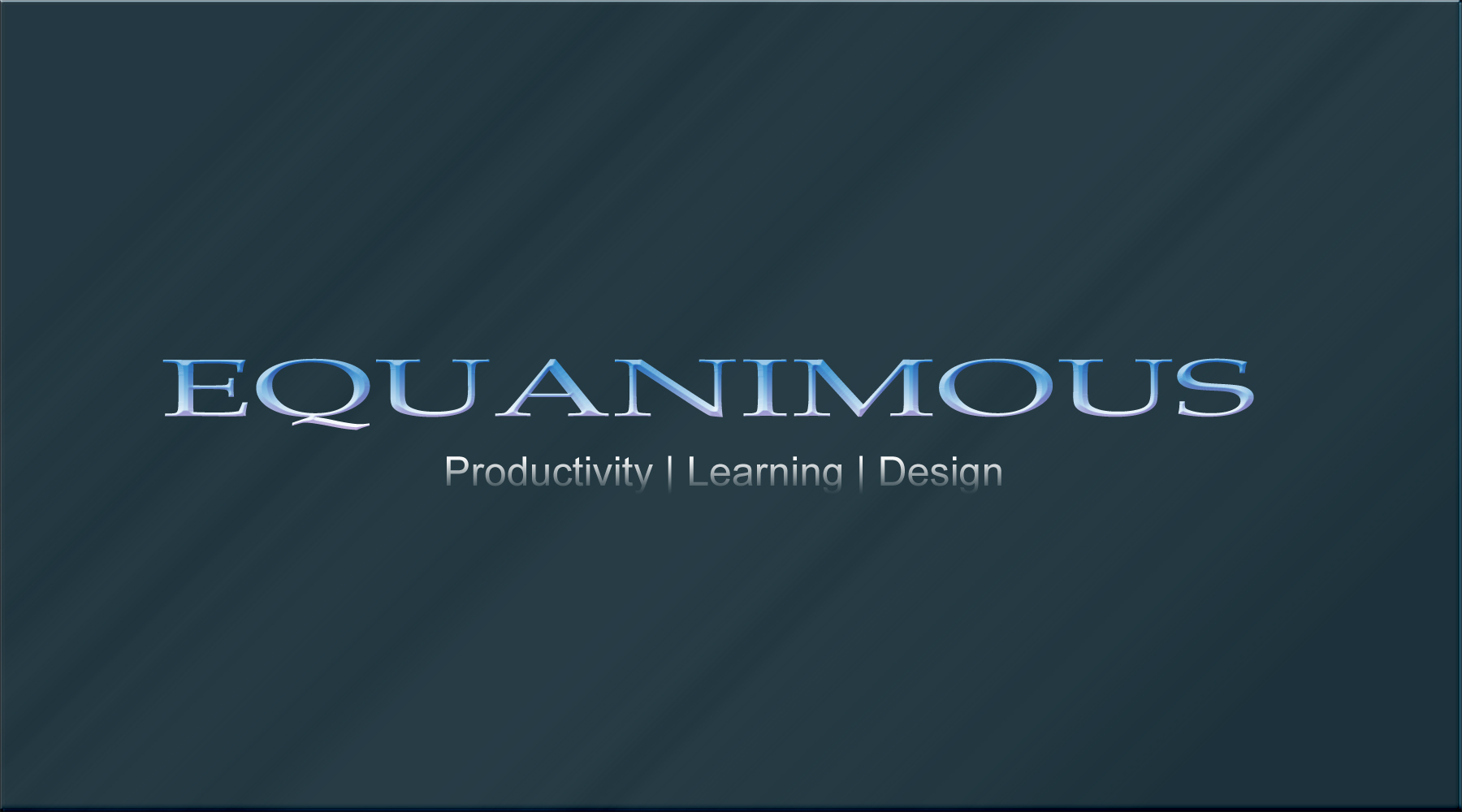 Logo Design by DOUMA AMINE - Entry No. 477 in the Logo Design Contest Logo Design : EQUANIMOUS : Productivity | Learning | Design.