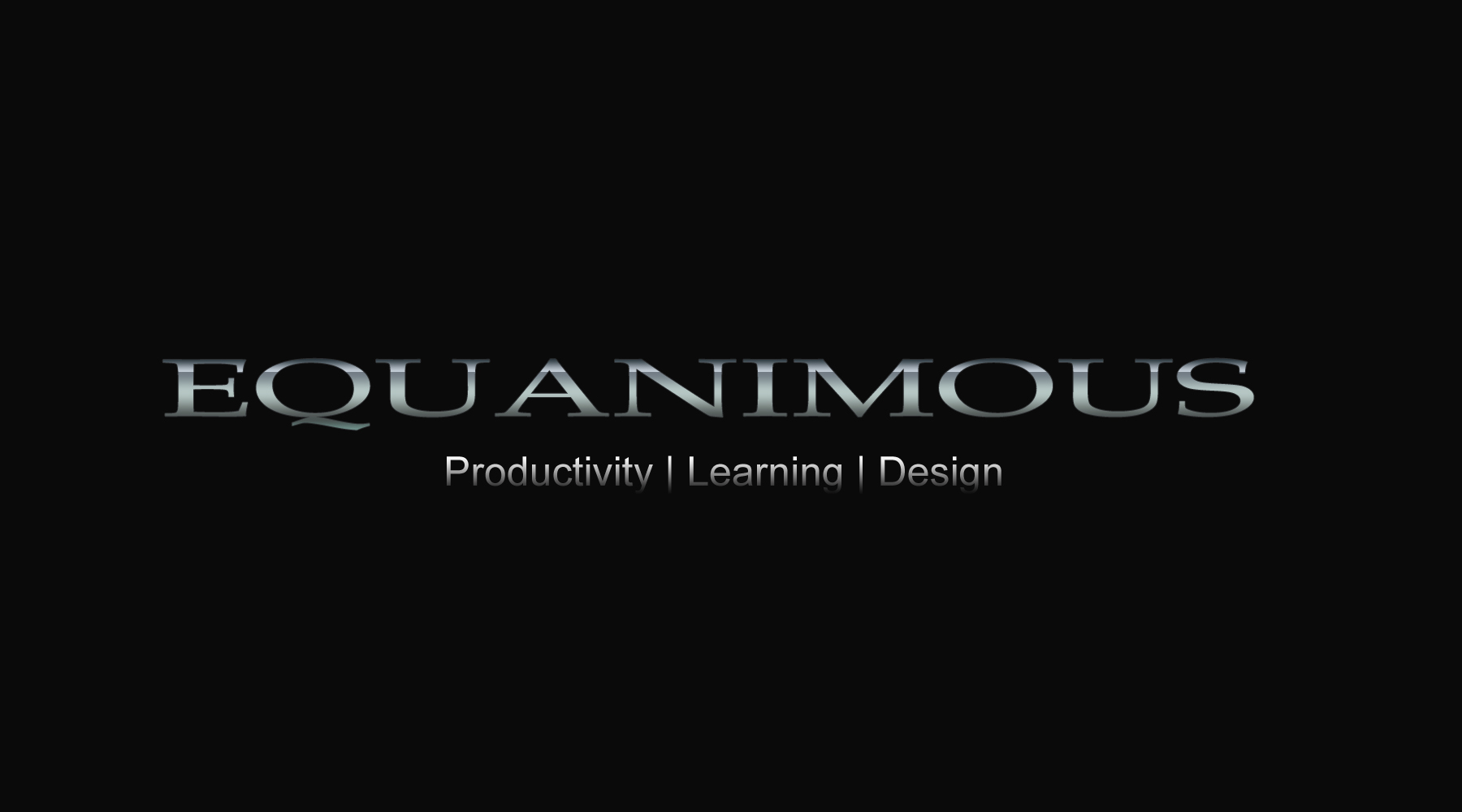 Logo Design by DOUMA AMINE - Entry No. 478 in the Logo Design Contest Logo Design : EQUANIMOUS : Productivity | Learning | Design.