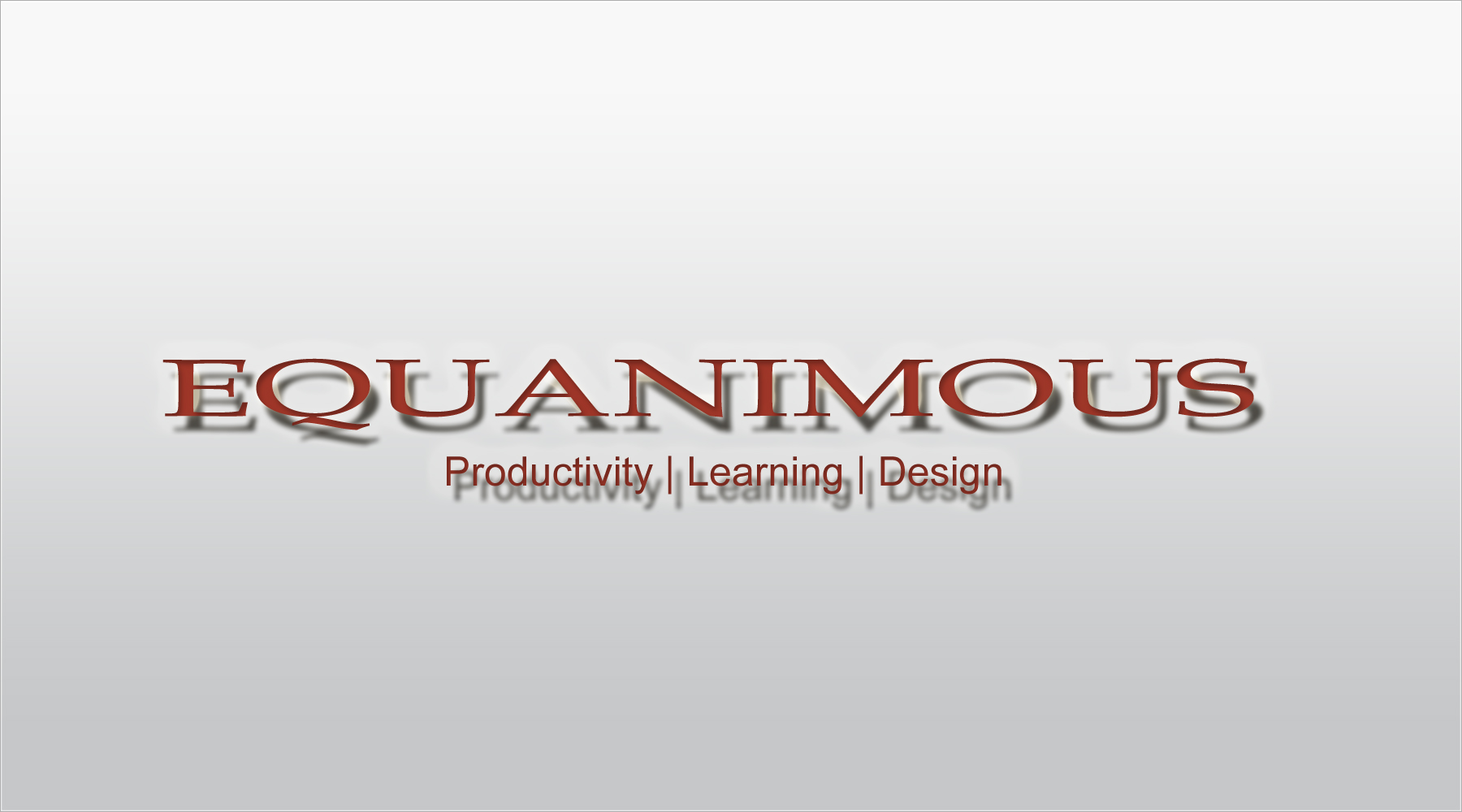 Logo Design by DOUMA AMINE - Entry No. 480 in the Logo Design Contest Logo Design : EQUANIMOUS : Productivity | Learning | Design.