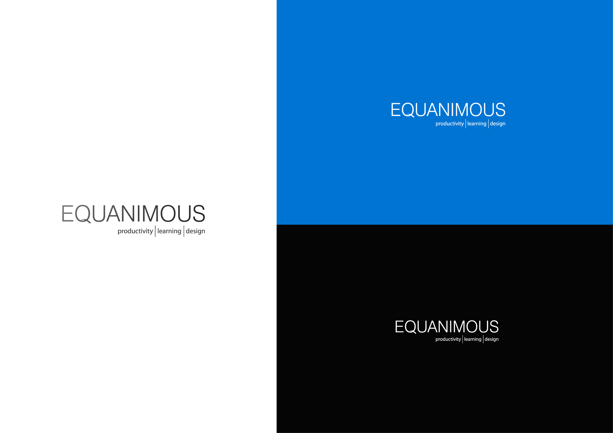 Logo Design by Osi Indra - Entry No. 481 in the Logo Design Contest Logo Design : EQUANIMOUS : Productivity | Learning | Design.