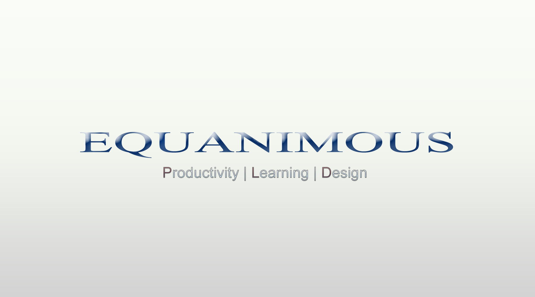 Logo Design by DOUMA AMINE - Entry No. 482 in the Logo Design Contest Logo Design : EQUANIMOUS : Productivity | Learning | Design.