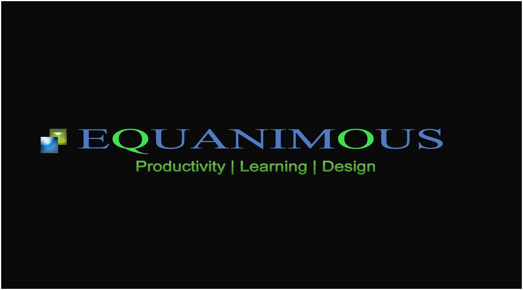 Logo Design by DOUMA AMINE - Entry No. 485 in the Logo Design Contest Logo Design : EQUANIMOUS : Productivity | Learning | Design.
