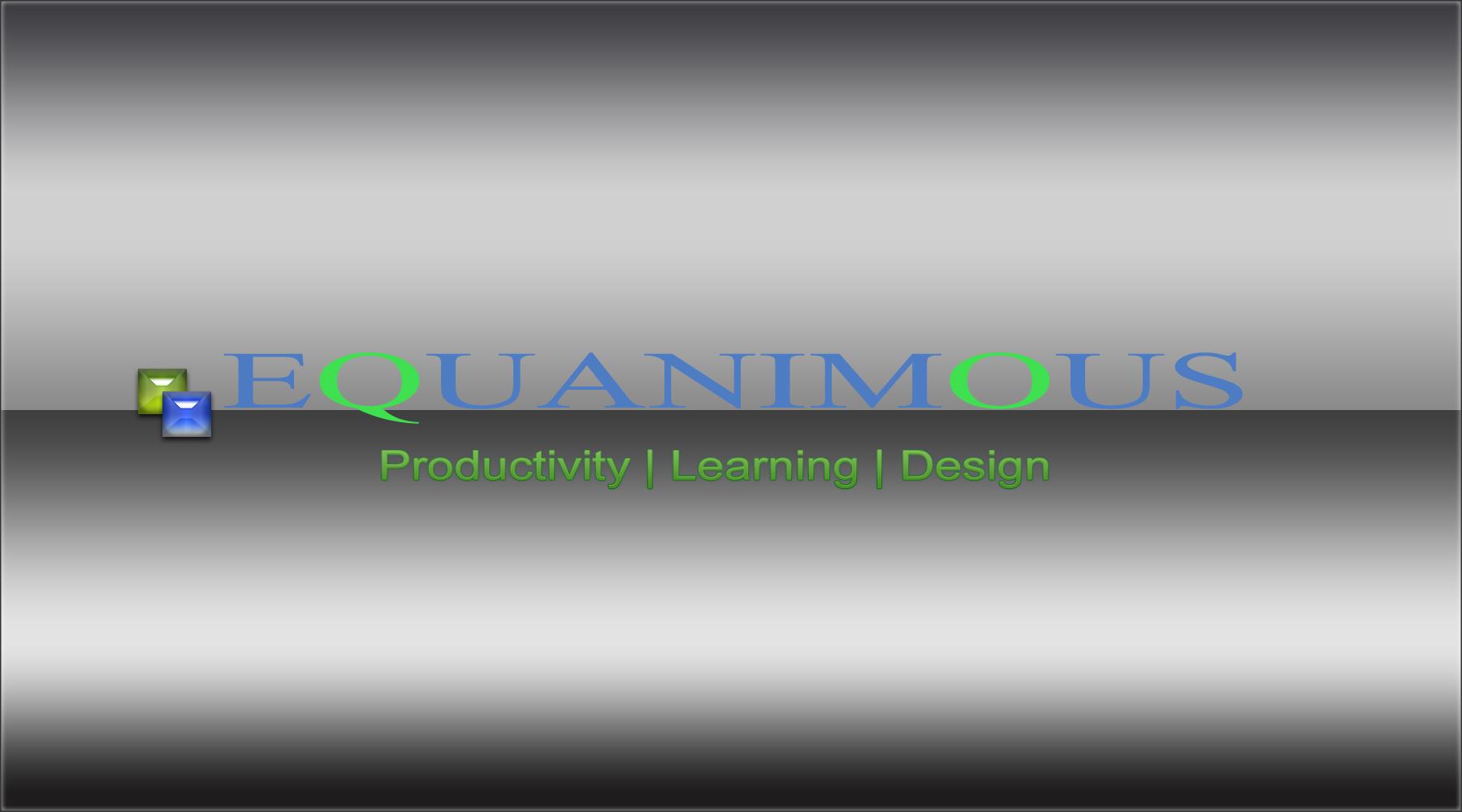 Logo Design by DOUMA AMINE - Entry No. 487 in the Logo Design Contest Logo Design : EQUANIMOUS : Productivity | Learning | Design.