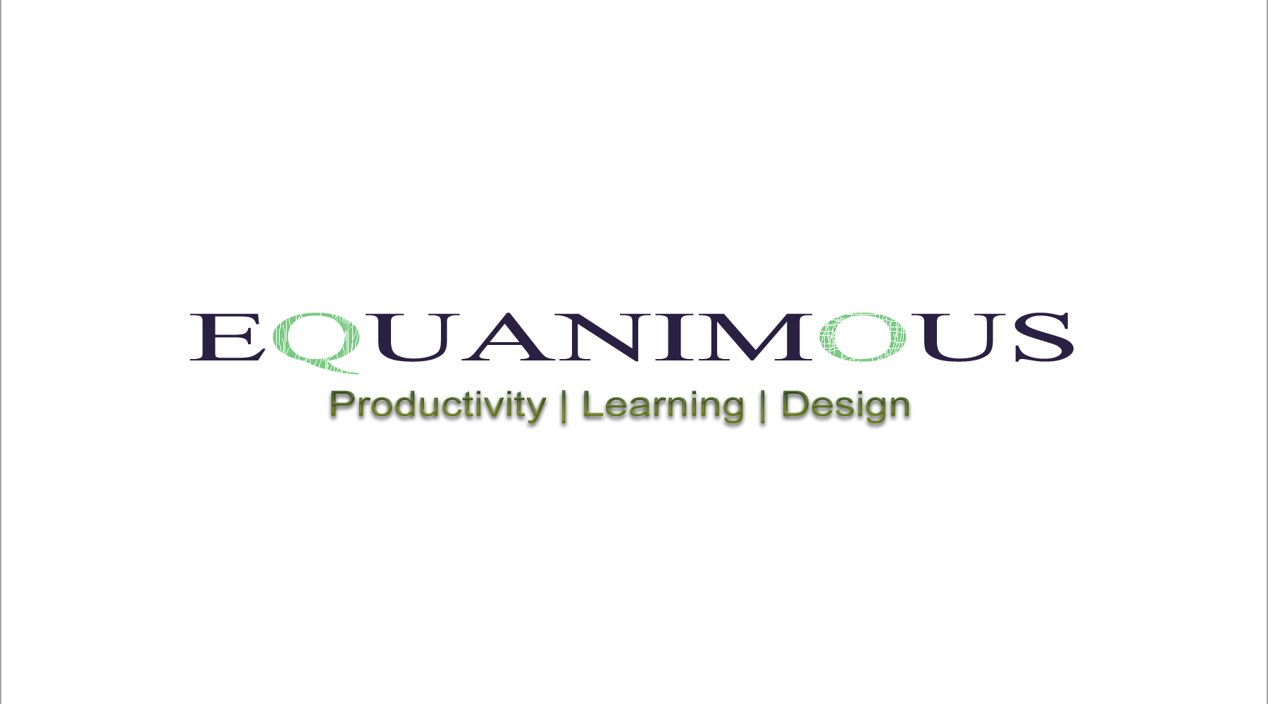 Logo Design by DOUMA AMINE - Entry No. 488 in the Logo Design Contest Logo Design : EQUANIMOUS : Productivity | Learning | Design.