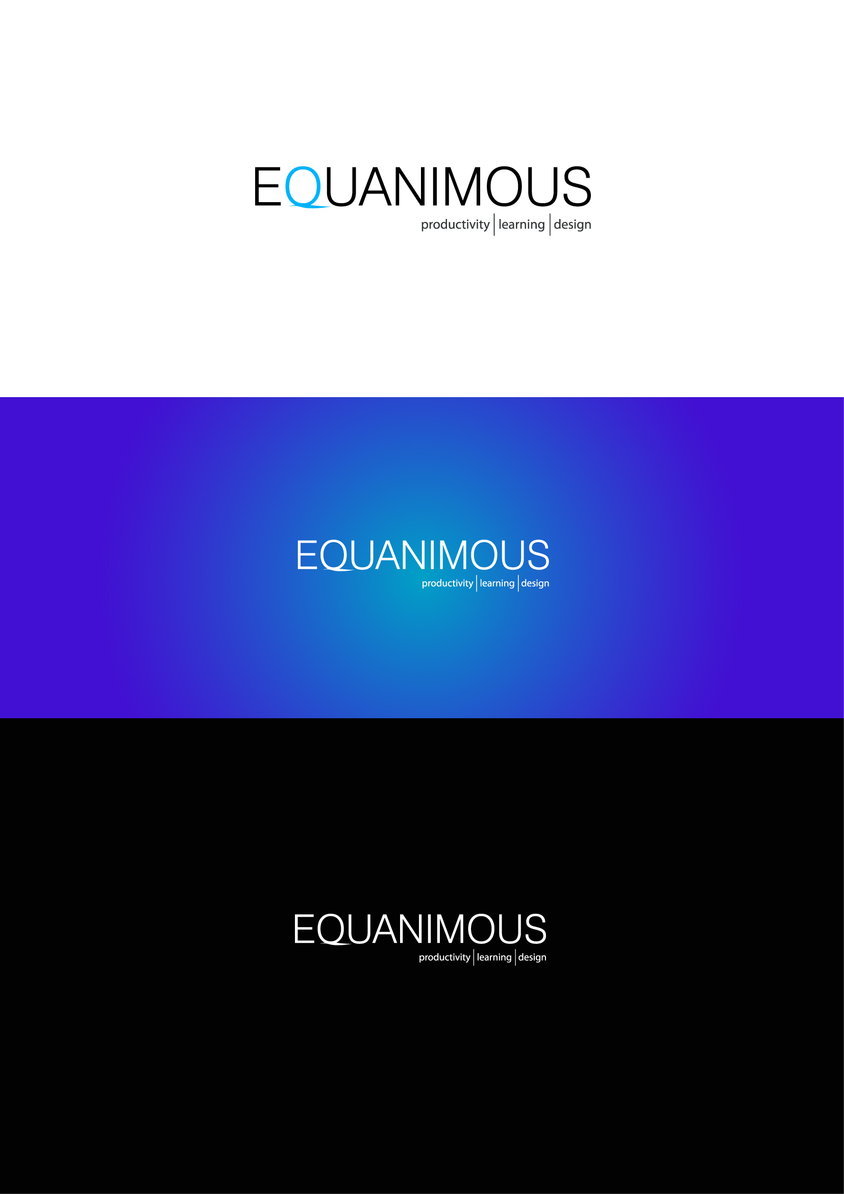 Logo Design by Osi Indra - Entry No. 490 in the Logo Design Contest Logo Design : EQUANIMOUS : Productivity | Learning | Design.