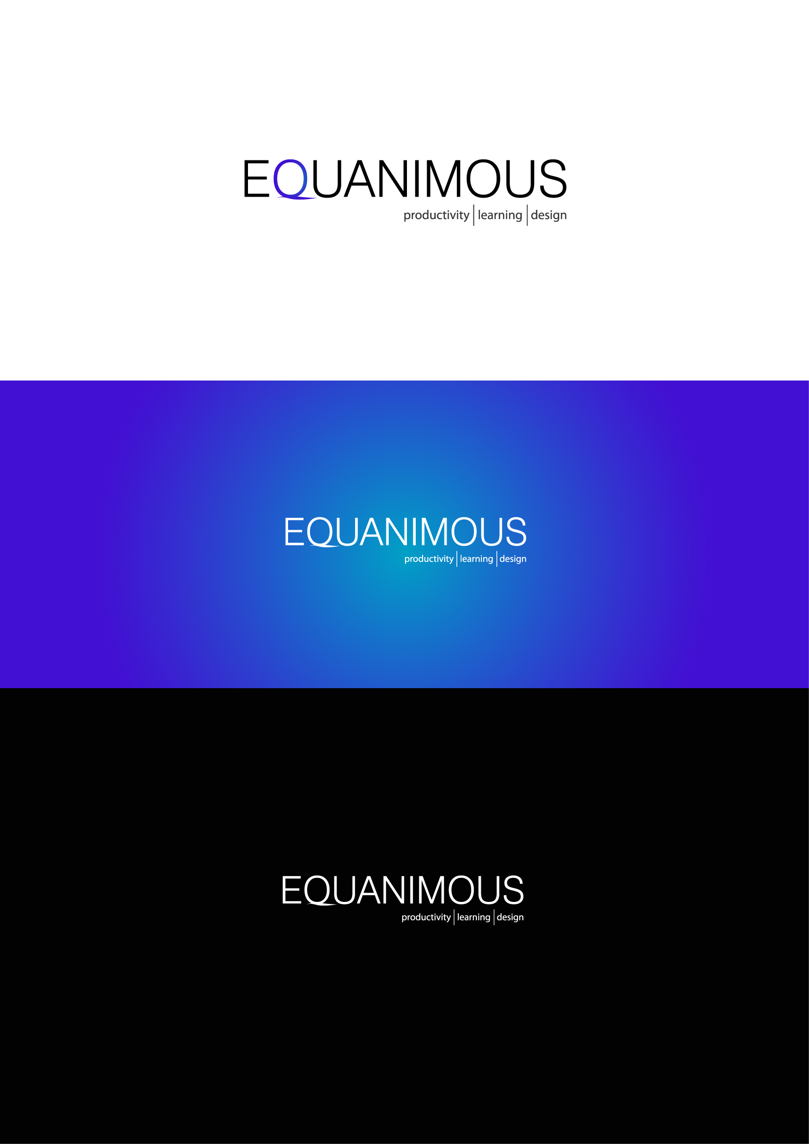 Logo Design by Osi Indra - Entry No. 491 in the Logo Design Contest Logo Design : EQUANIMOUS : Productivity | Learning | Design.