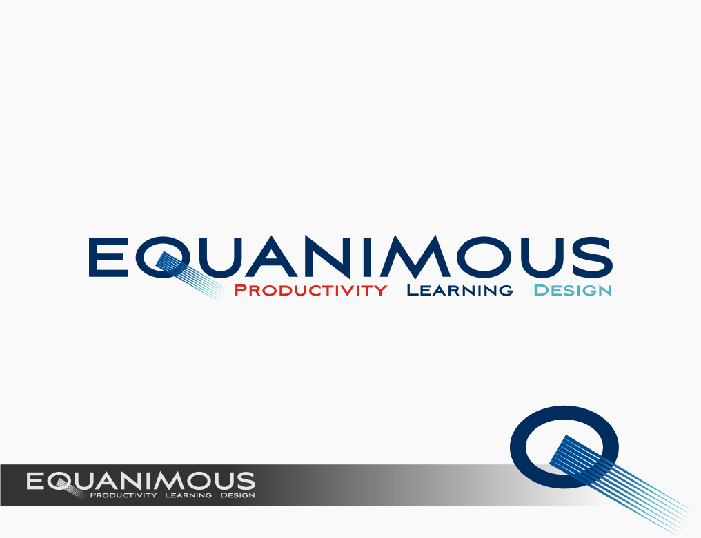 Logo Design by graphicleaf - Entry No. 492 in the Logo Design Contest Logo Design : EQUANIMOUS : Productivity | Learning | Design.