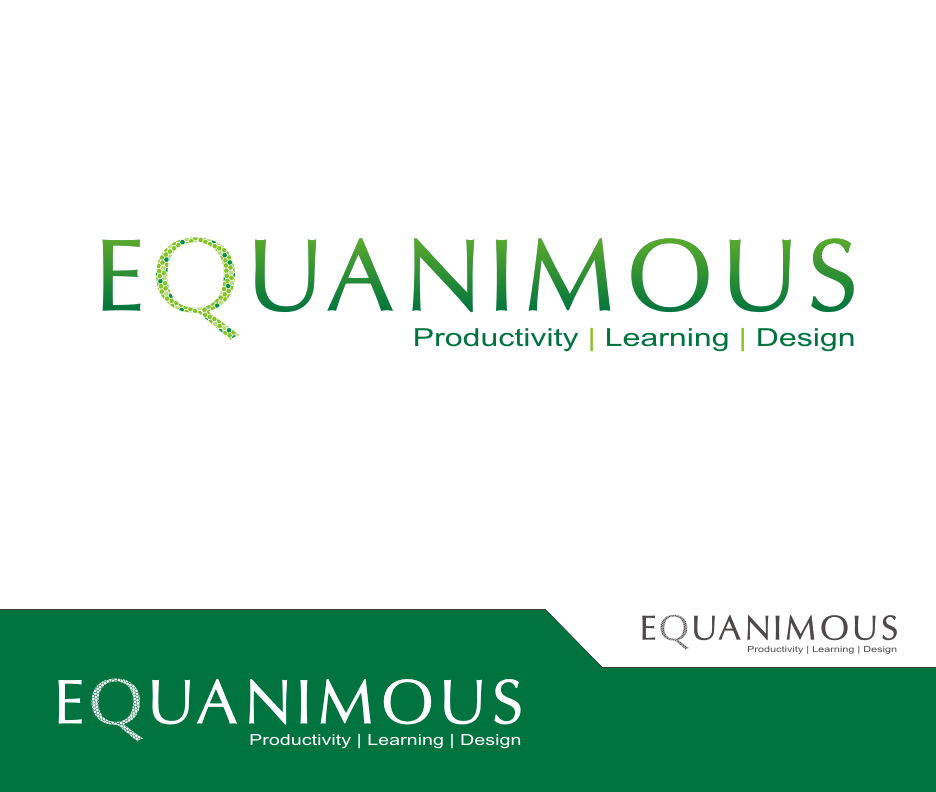 Logo Design by Joe Teach - Entry No. 503 in the Logo Design Contest Logo Design : EQUANIMOUS : Productivity | Learning | Design.